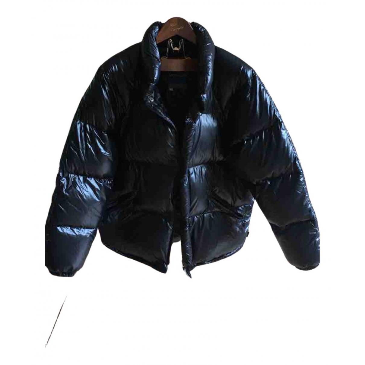 Moncler Classic Jacke in  Schwarz Baumwolle