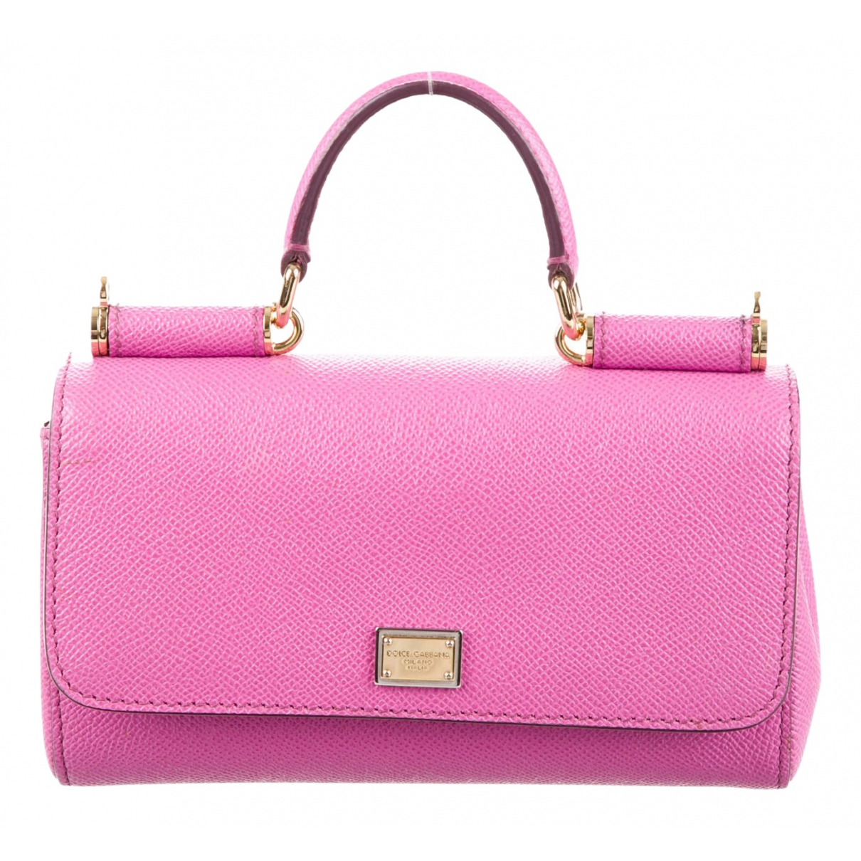 Dolce & Gabbana Sicily Pink Leather handbag for Women N