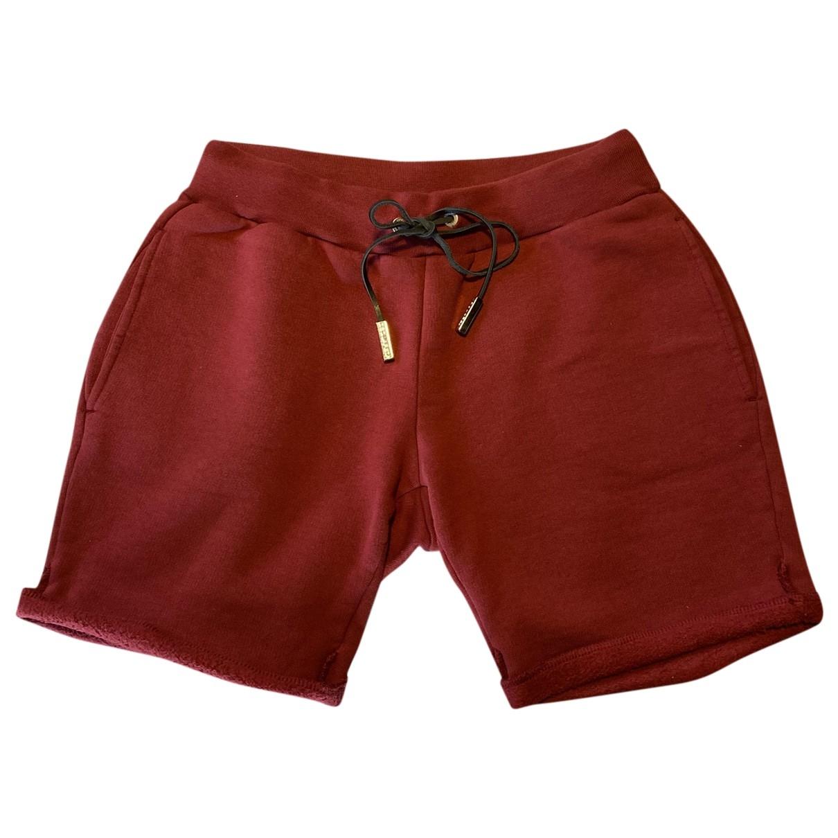 Dsquared2 - Short   pour femme en coton - bordeaux