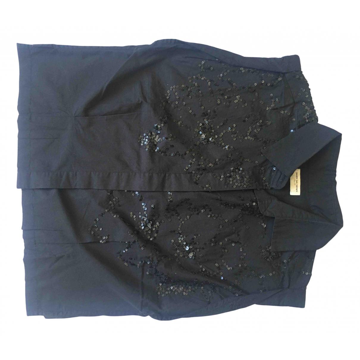 Dries Van Noten \N Black Cotton  top for Women 38 FR
