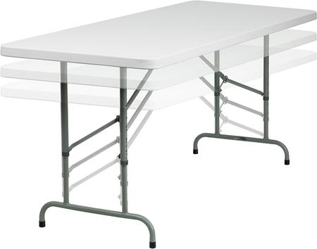 RB-3072ADJ-GG 30''W x 72''L Height Adjustable Granite White Plastic Folding
