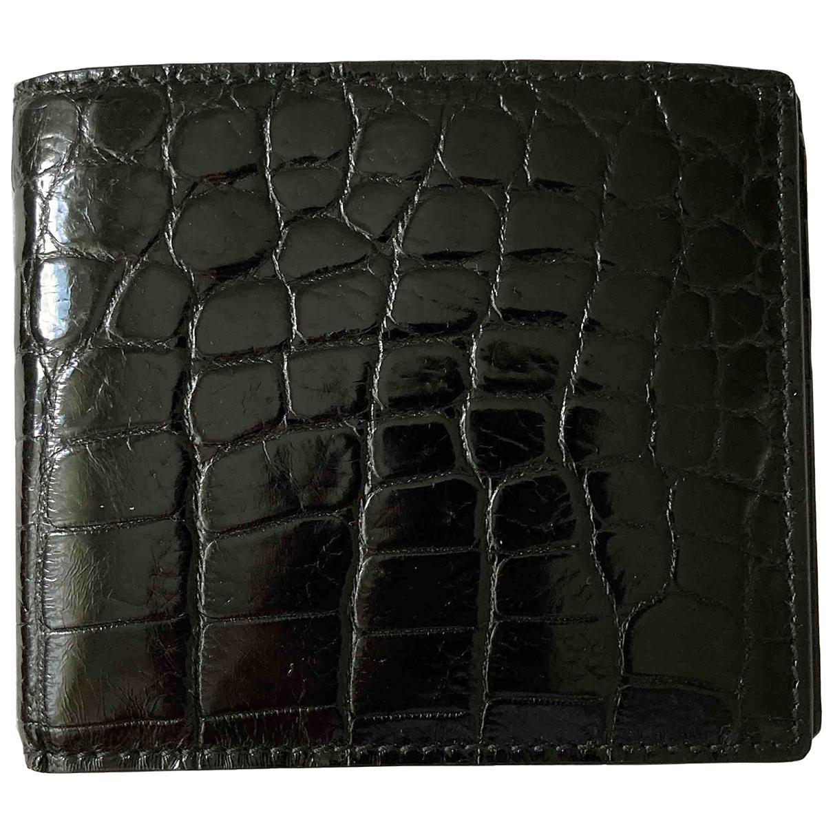 Gucci - Petite maroquinerie   pour homme en alligator - noir