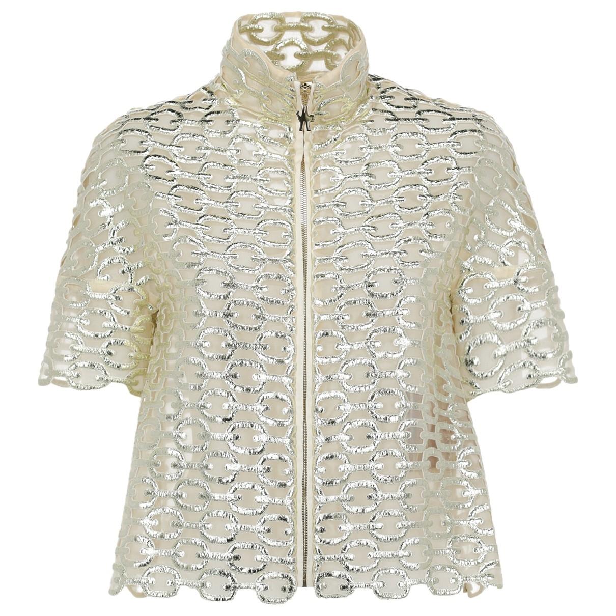 Moncler - Veste   pour femme en coton - dore