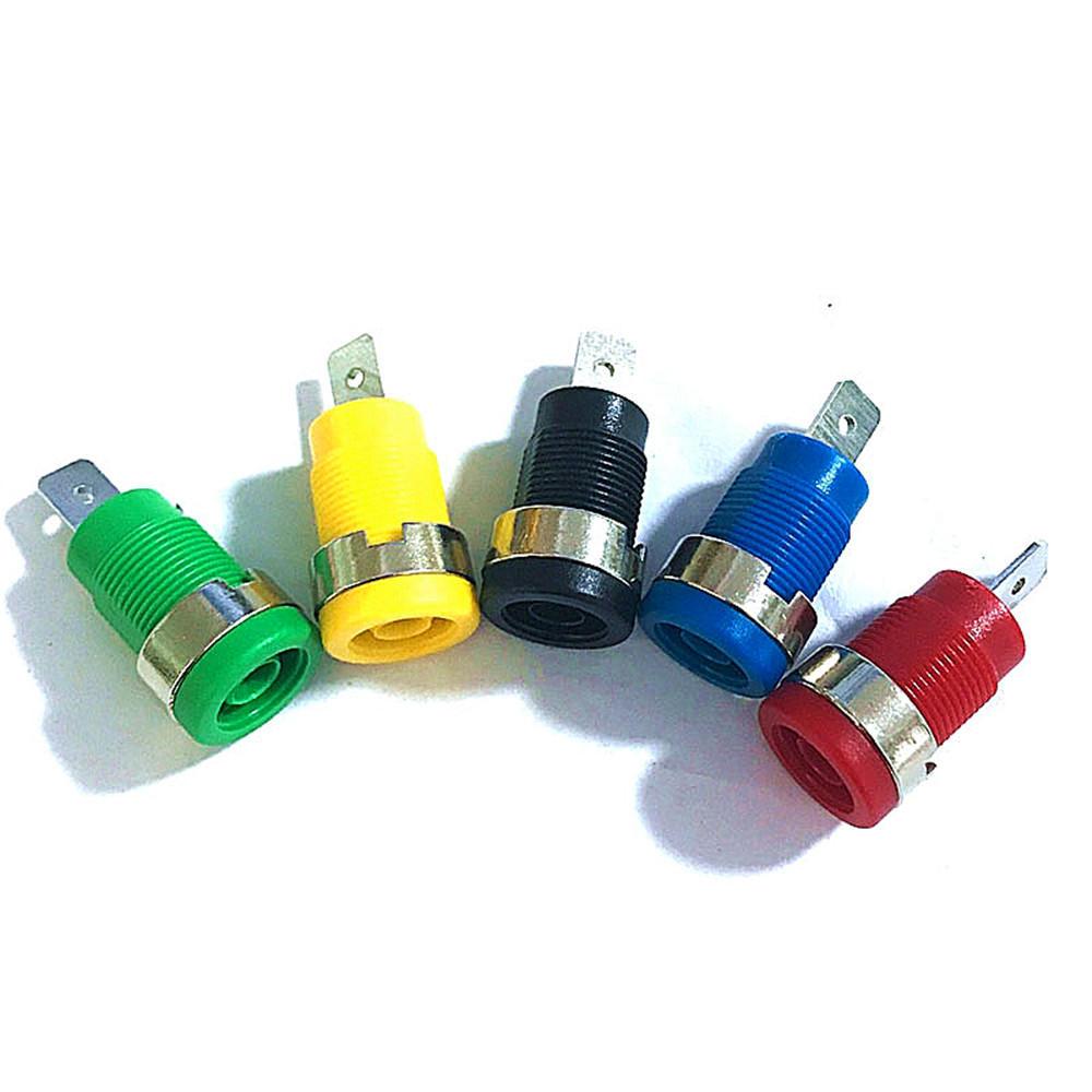 5 Pcs 4mm Banana Plugs Female Jack Socket Plug Wire Connector 5 Colors Each 1pcs Multimeter Socket Banana Head Female