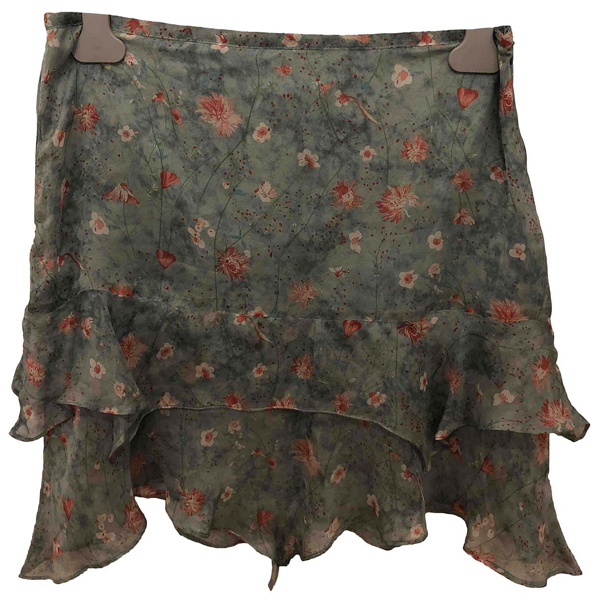 Stefanel - Jupe   pour femme en soie - vert