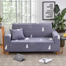 Tree Print Sofa Cover Without Cushion