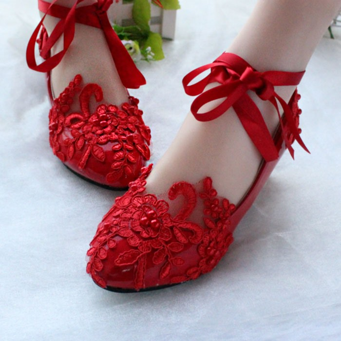 Ericdress Lace Flat Wedding Shoes