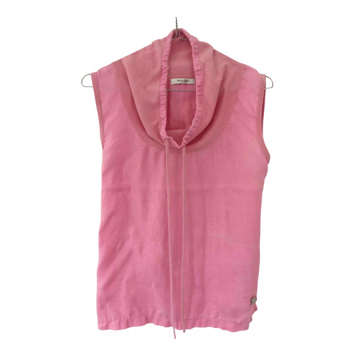 Sand - Top   pour femme en lin - rose
