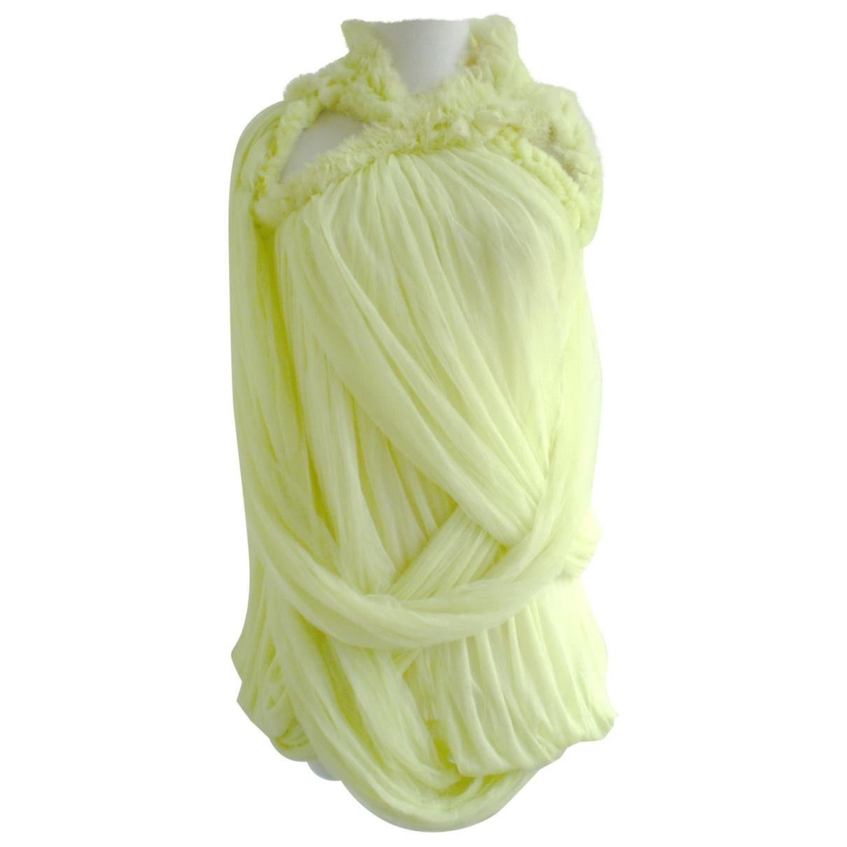Givenchy - Robe   pour femme en soie - jaune
