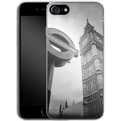 Apple iPhone 8 Silikon Handyhuelle - Big Ben & Underground von Ronya Galka