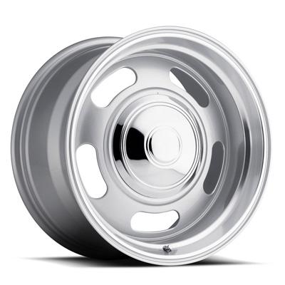 107 Classic Rally 17X8 5X120.7/5X127 + 0MM 22 Lbs Mirrored Trim RingS Silver/Trim Ring Aluminum Wheels 107 Classic Rally Series REV Wheels 107S-780060