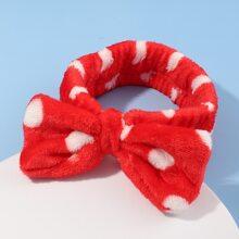 1pc Polka Dot Pattern Bath Headband