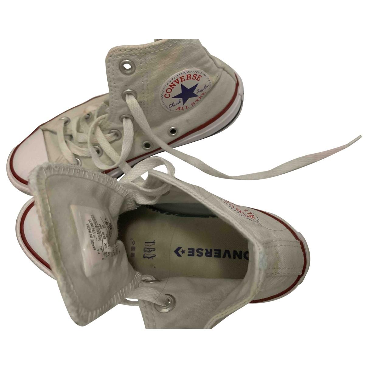 Converse \N White Cloth Trainers for Kids 31 EU