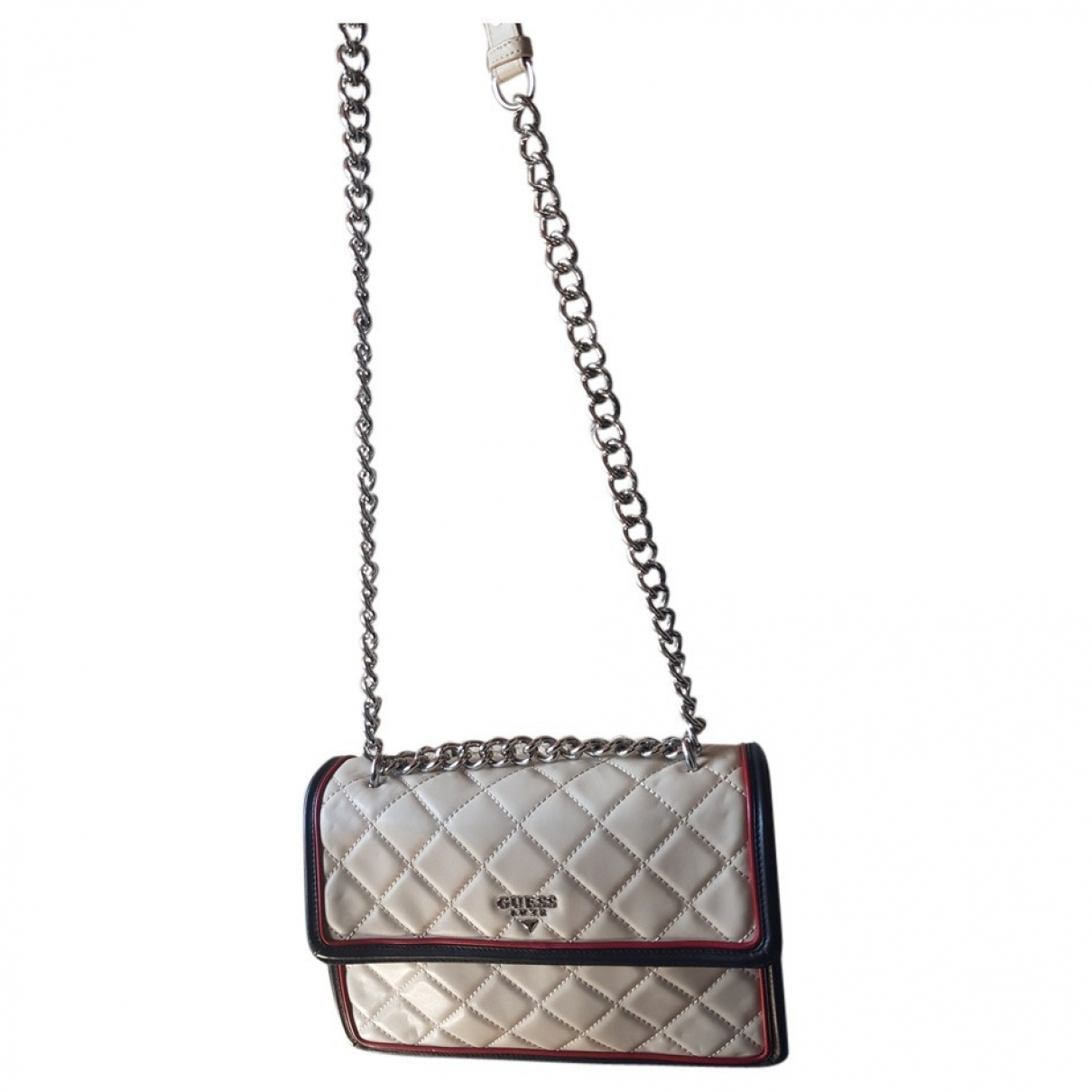 Guess \N Ecru Leather handbag for Women \N