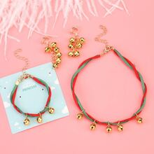 4 piezas set joya de niñitas de navidad