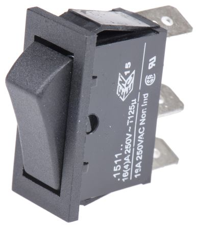 Arcolectric Single Pole Double Throw (SPDT), (On)-On Rocker Switch Panel Mount