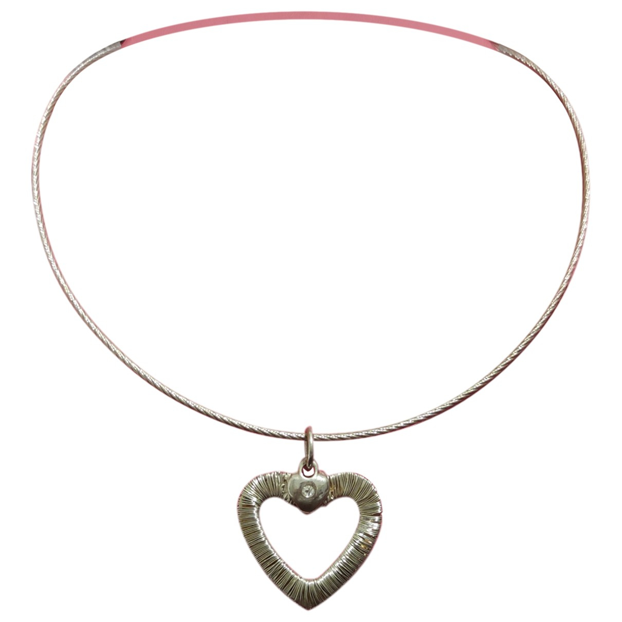 Non Signé / Unsigned Motifs Coeurs Silver Silver necklace for Women \N