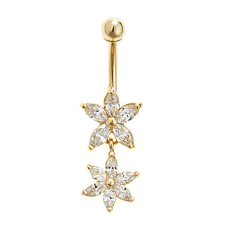 14K Gold Belly Ring, One Size , No Color Family