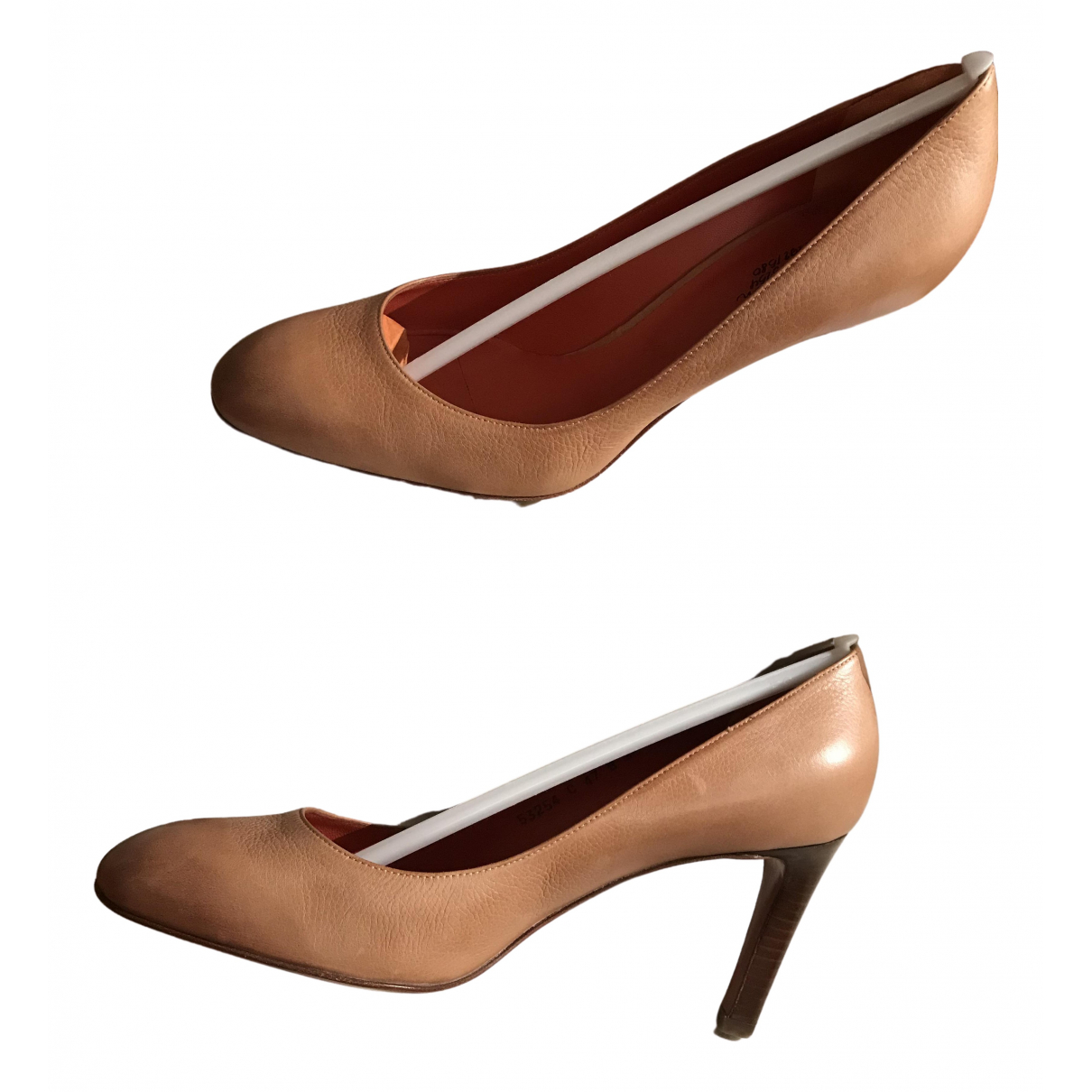 Santoni \N Beige Leather Heels for Women 38 IT