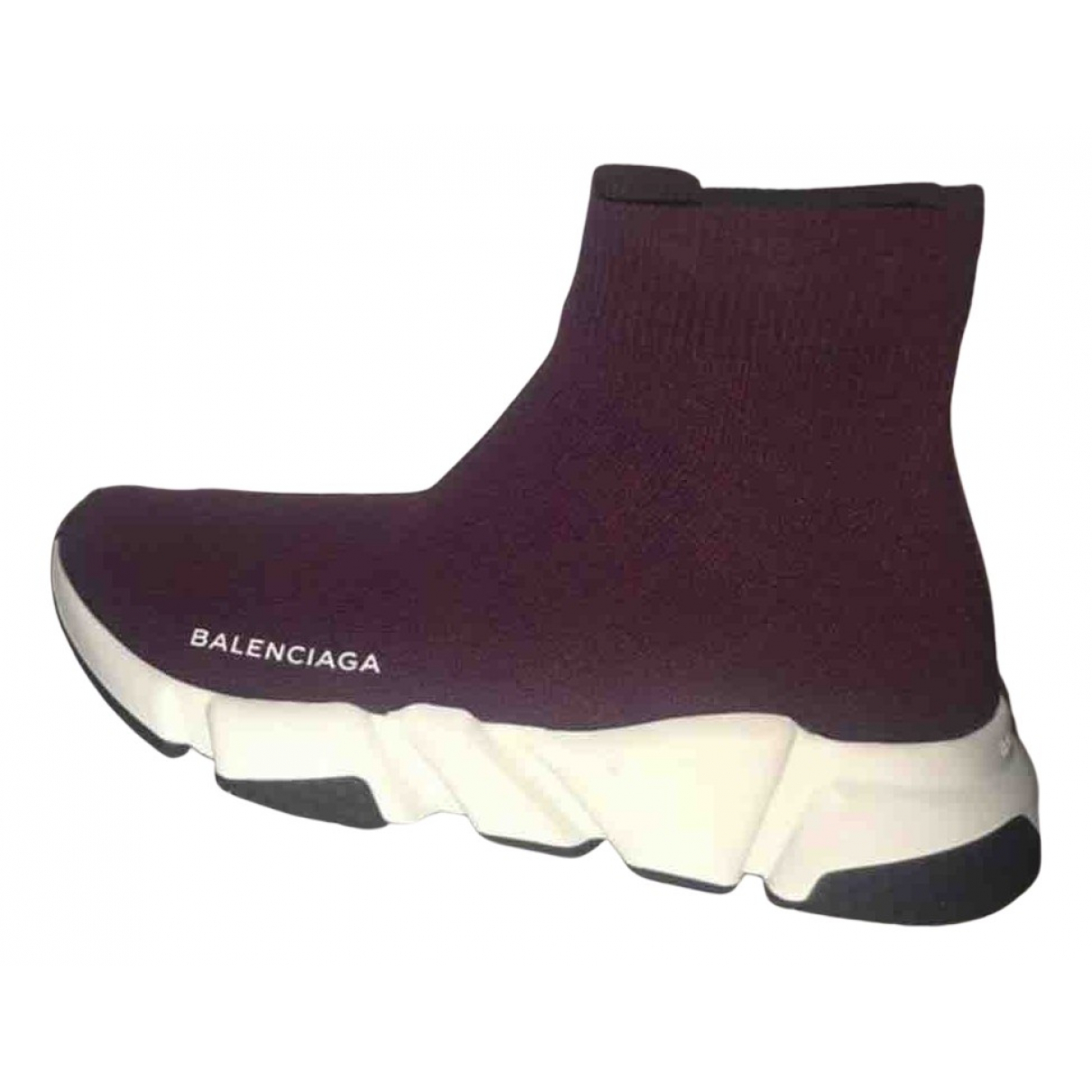 Balenciaga Speed Sneakers in  Bordeauxrot Leinen