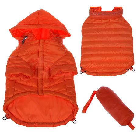 The Pet Life Lightweight Adjustable 'Sporty Avalanche' Pet Coat, One Size , Orange