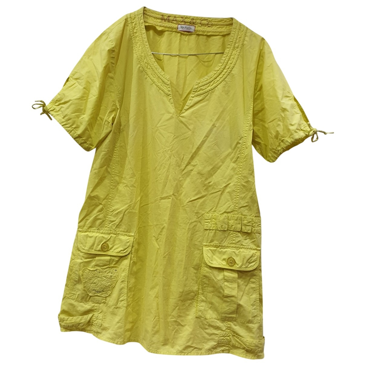 Max & Co \N Yellow Cotton dress for Women 42 IT