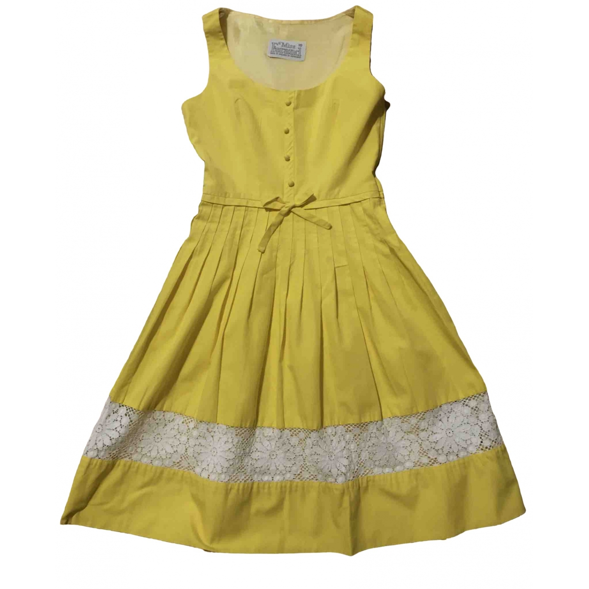 Non Signé / Unsigned \N Yellow Cotton dress for Women 10 UK
