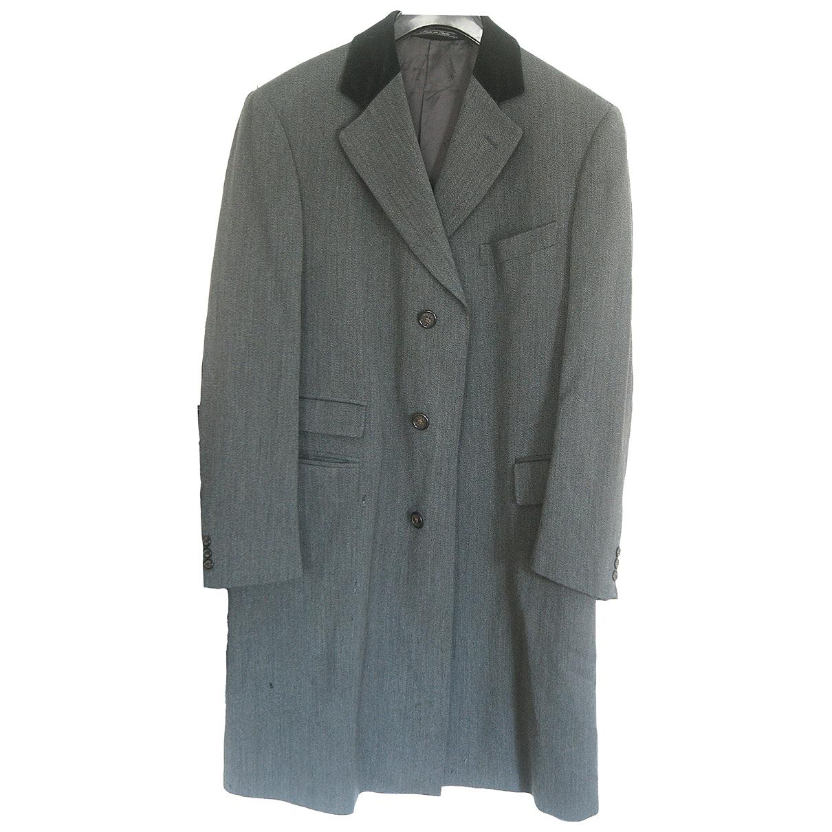 Gucci - Manteau   pour homme en laine - gris