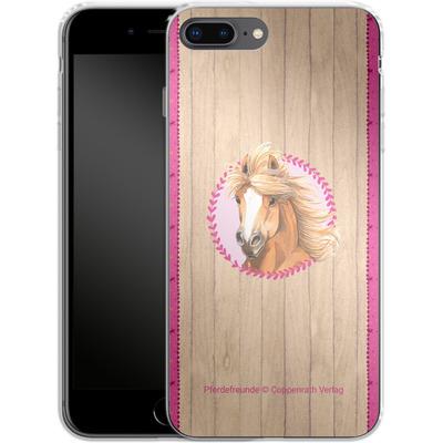 Apple iPhone 8 Plus Silikon Handyhuelle - Pferdefreunde Herzen von Pferdefreunde