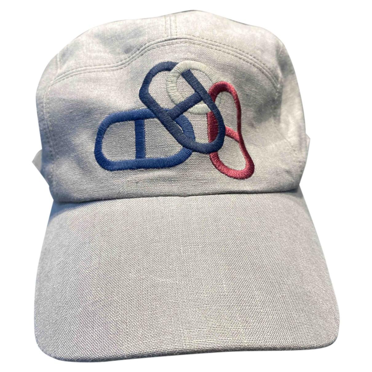 Hermès N Grey Linen hat & pull on hat for Men 60 cm