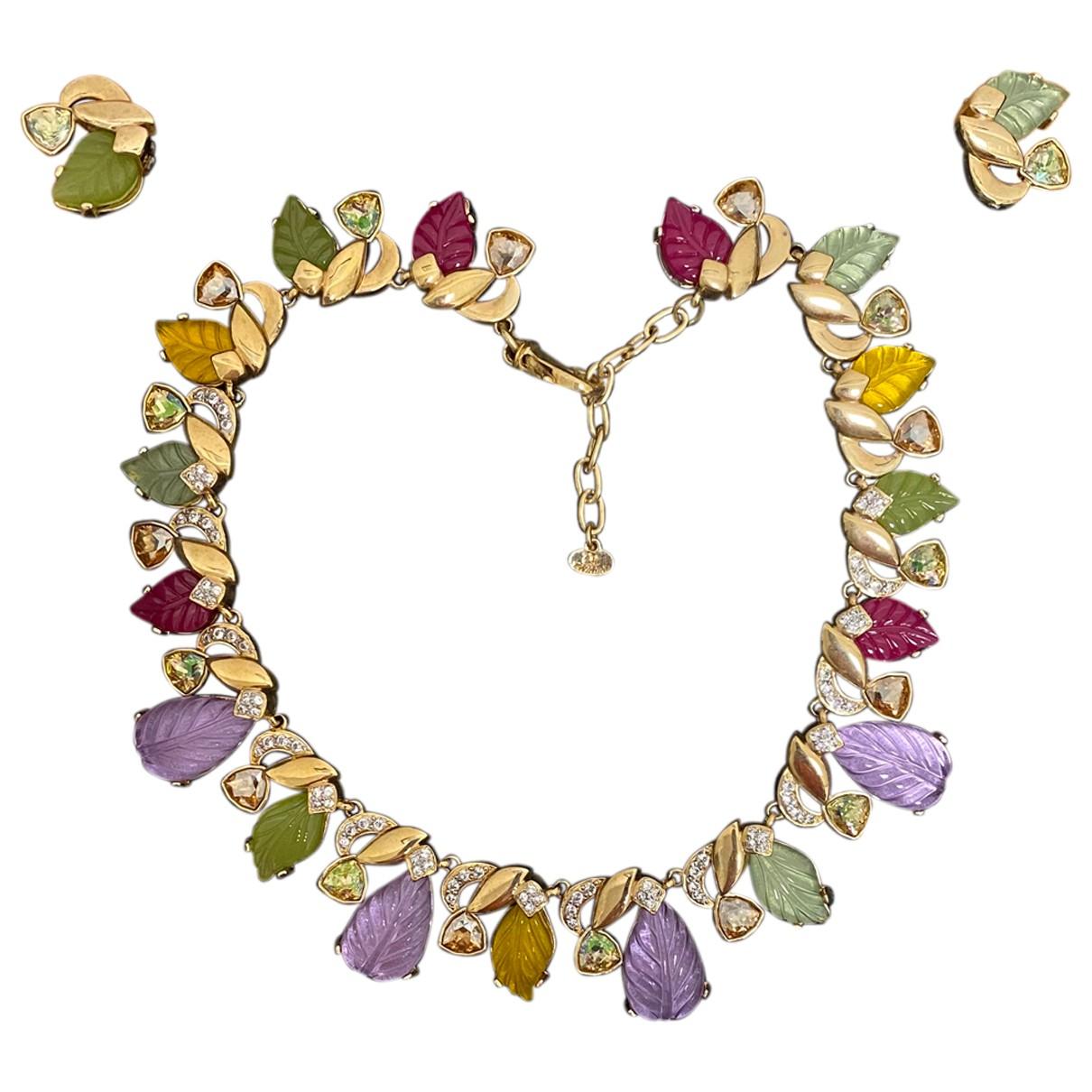- Collier Motifs Floraux pour femme en metal - multicolore