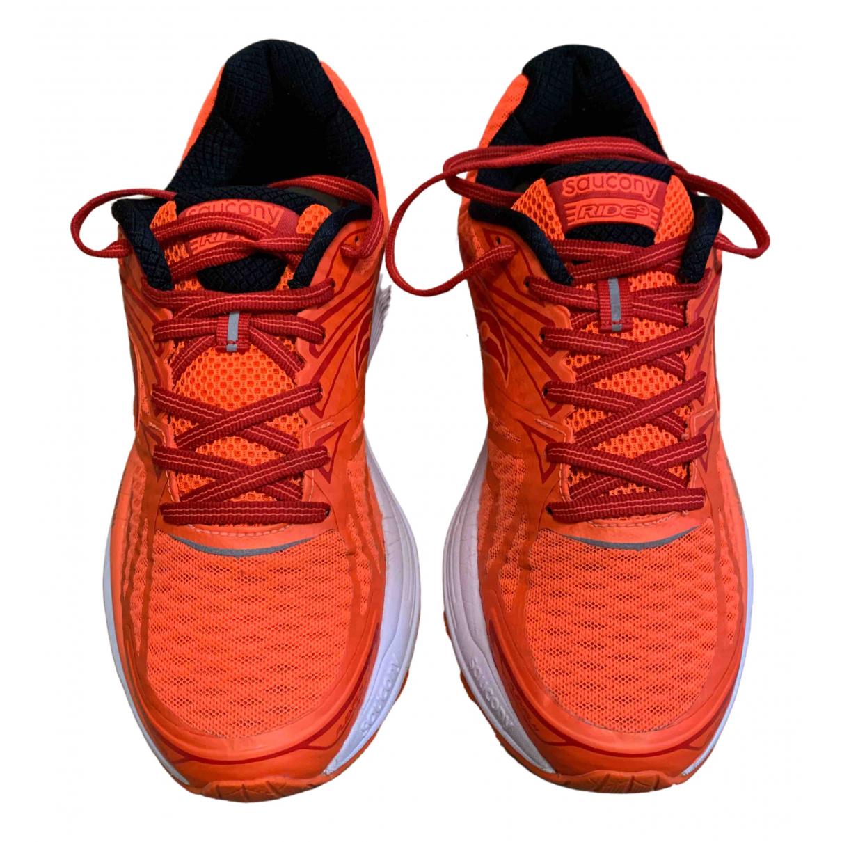 Saucony \N Sneakers in  Orange Leinen
