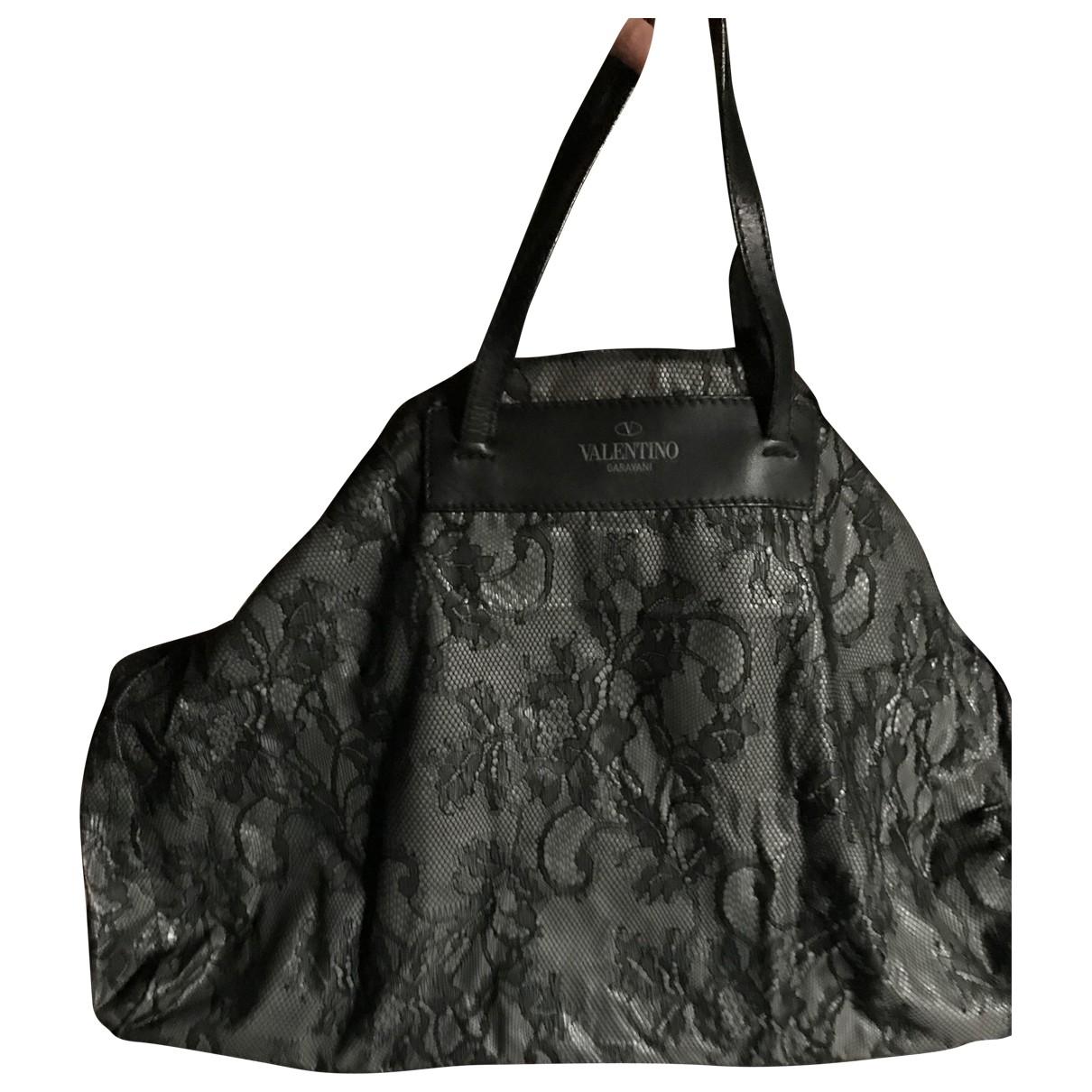 Valentino Garavani \N Handtasche in  Schwarz Leinen