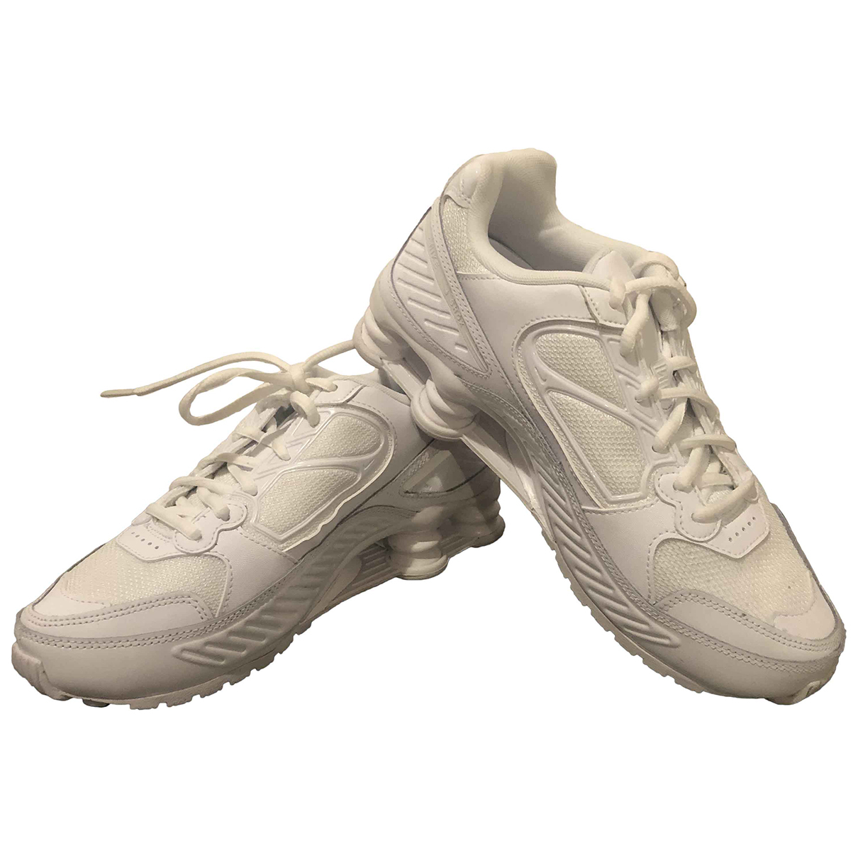 Nike - Baskets Shox pour femme en cuir - blanc