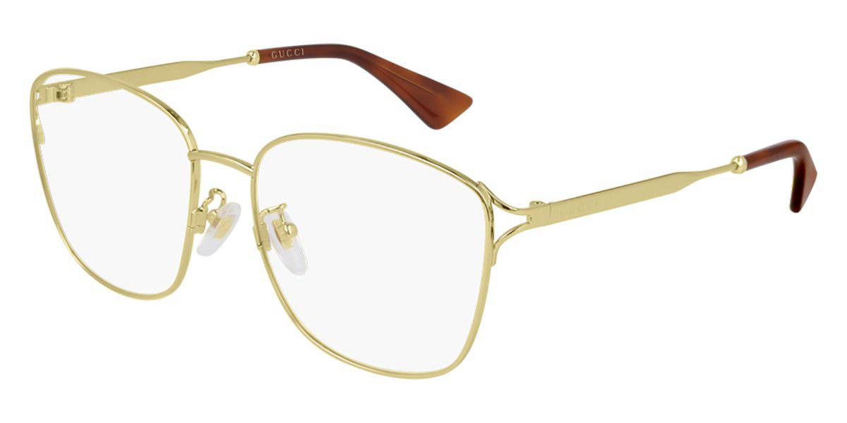Gucci GG0819OA Asian Fit 001 Women's Glasses  Size 56 - Free Lenses - HSA/FSA Insurance - Blue Light Block Available