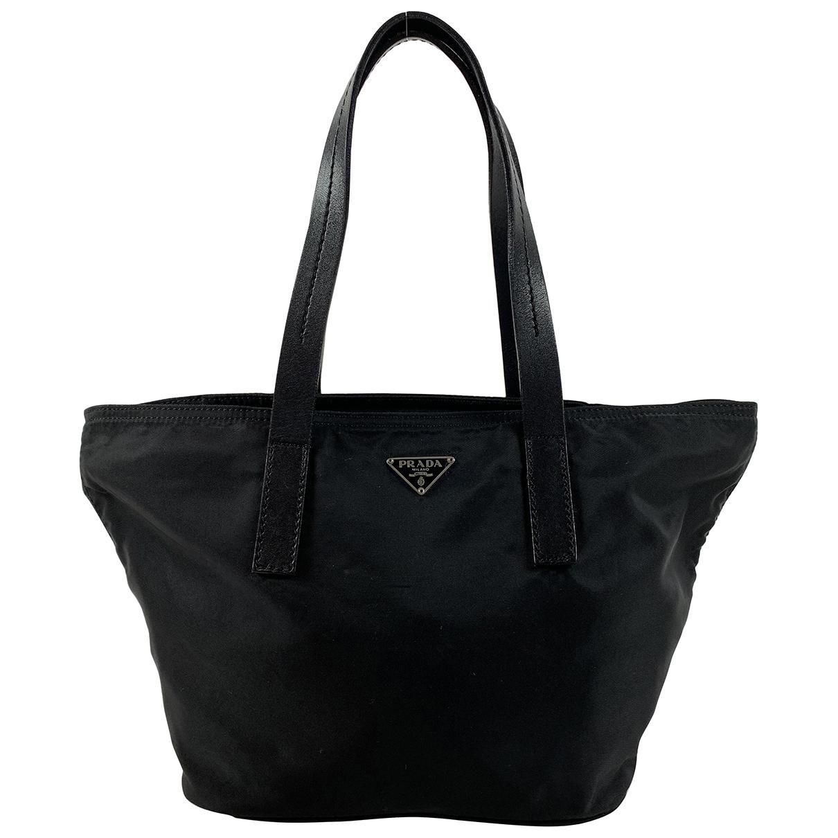 Prada - Sac a main Tessuto  pour femme en toile - noir