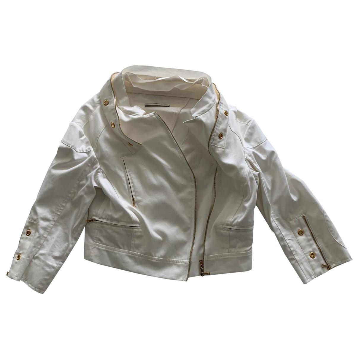 Prada - Veste   pour femme en coton - blanc