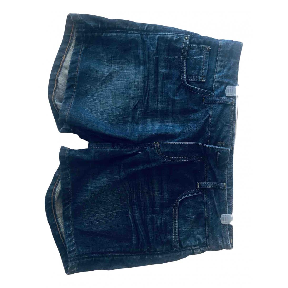 Massimo Dutti \N Blue Denim - Jeans Shorts for Women 38 FR