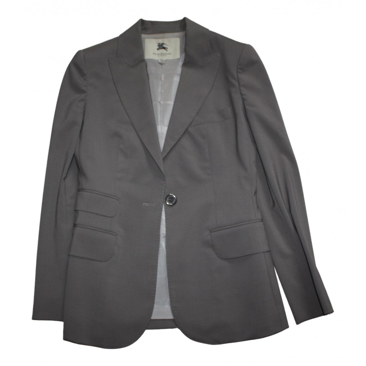 Burberry - Veste   pour femme en laine - gris