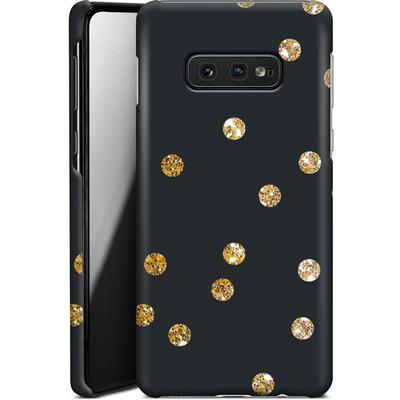Samsung Galaxy S10e Smartphone Huelle - Gold Dots von Khristian Howell