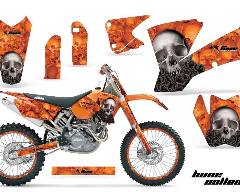 AMR Racing Graphics MX-NP-KTM-C1-01-04-BC O Kit Decal Wrap + # Plates For KTM  SX SXS EXC MXC 2001-2004áBONES ORANGE