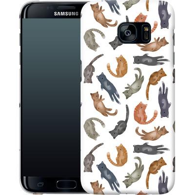 Samsung Galaxy S7 Edge Smartphone Huelle - Cute Cat von Becky Starsmore
