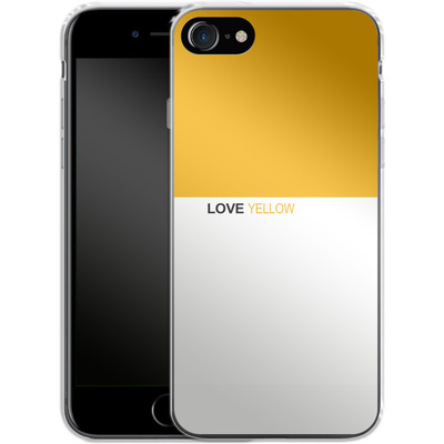 Apple iPhone 7 Silikon Handyhuelle - LoveYellow von caseable Designs