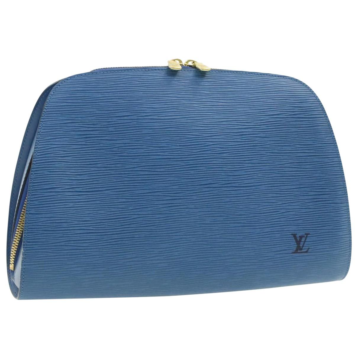 Louis Vuitton - Sac de voyage   pour femme en cuir - bleu