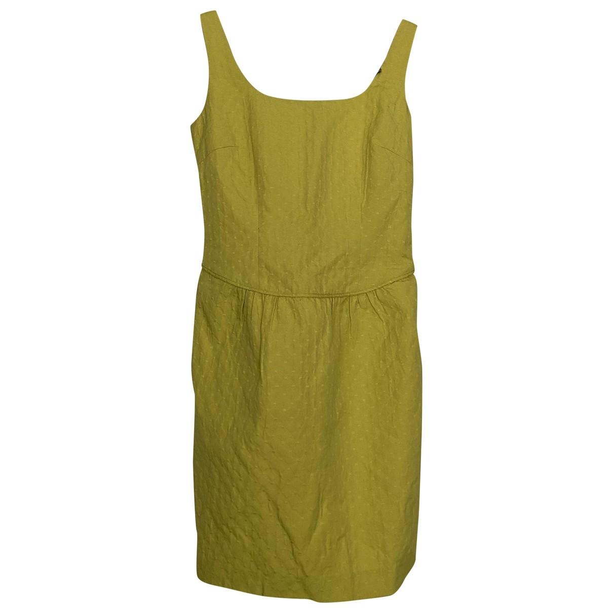 Hoss Intropia - Robe   pour femme en coton - jaune