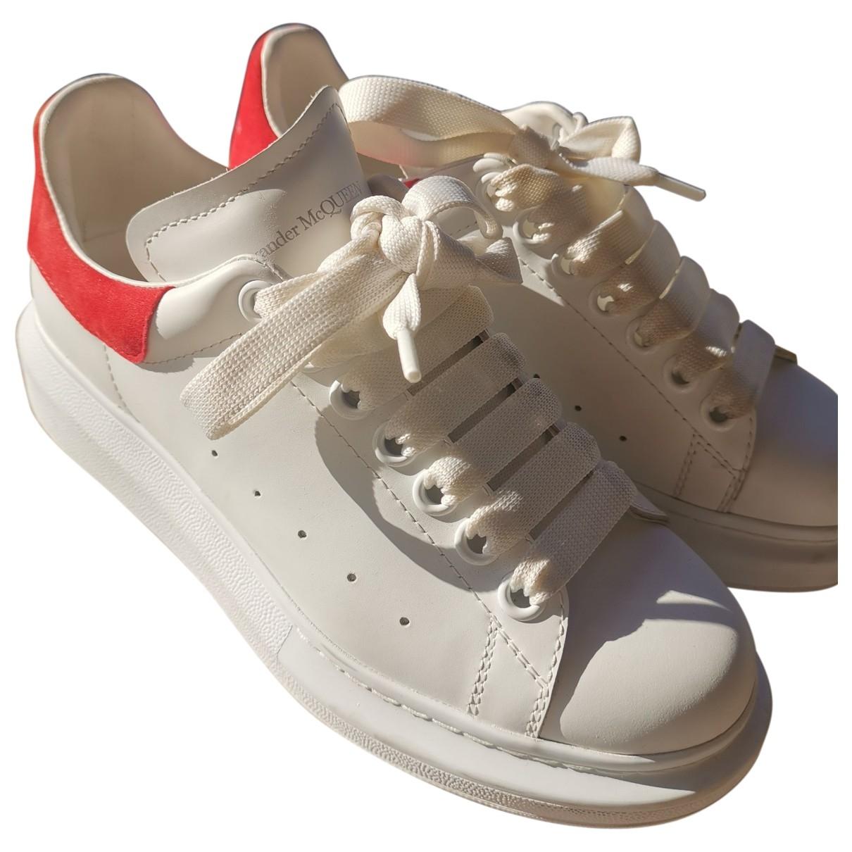 Alexander Mcqueen - Baskets Oversize pour femme en cuir - rouge