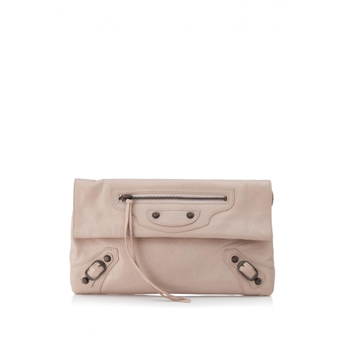 Balenciaga - Pochette Envelop pour femme en cuir - rose
