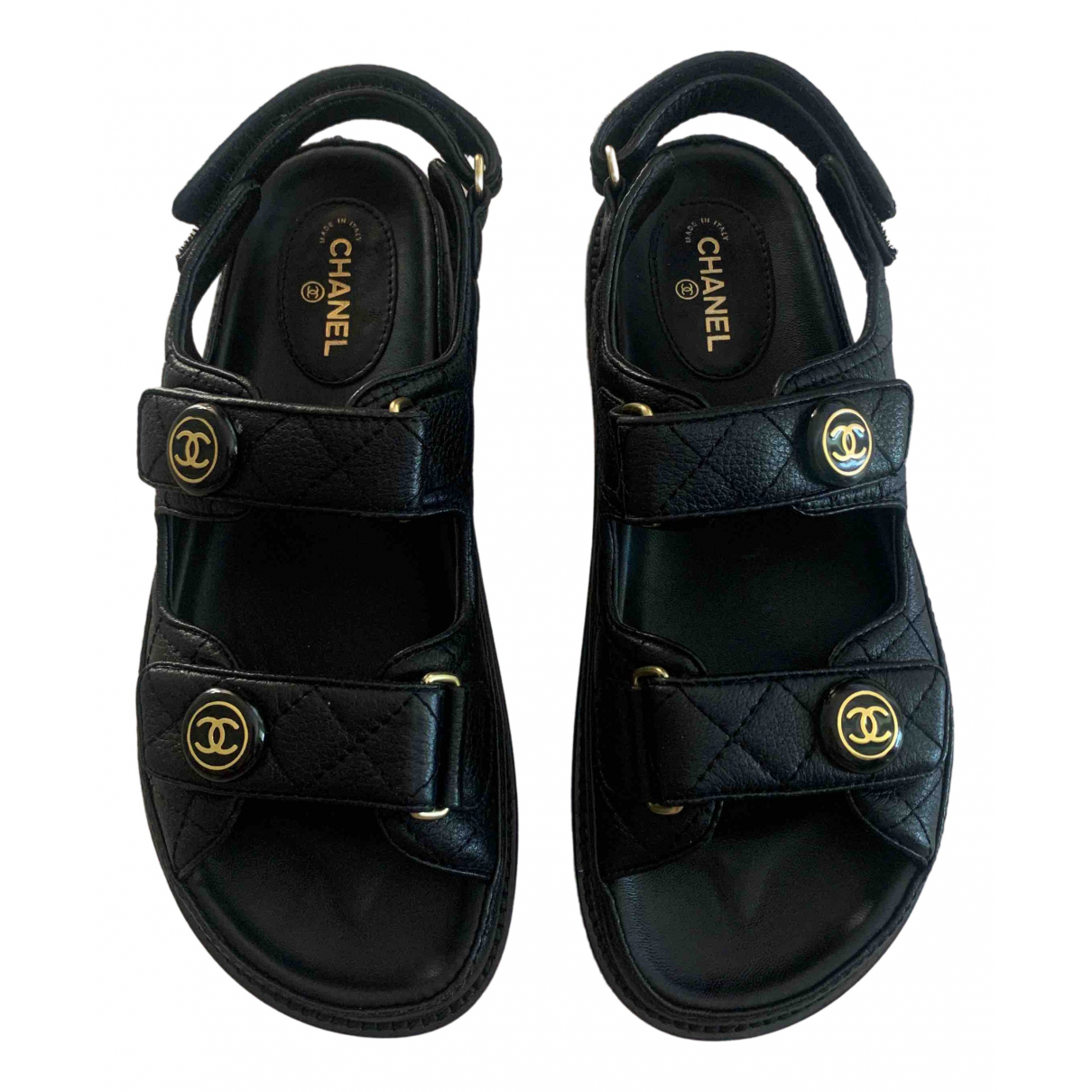 Chanel \N Black Leather Sandals for Women 39 EU