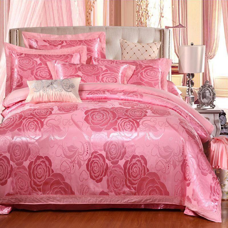 Jacquard Satin Drill Duvet Cover Set Four-Piece Set Cotton Bedding Sets
