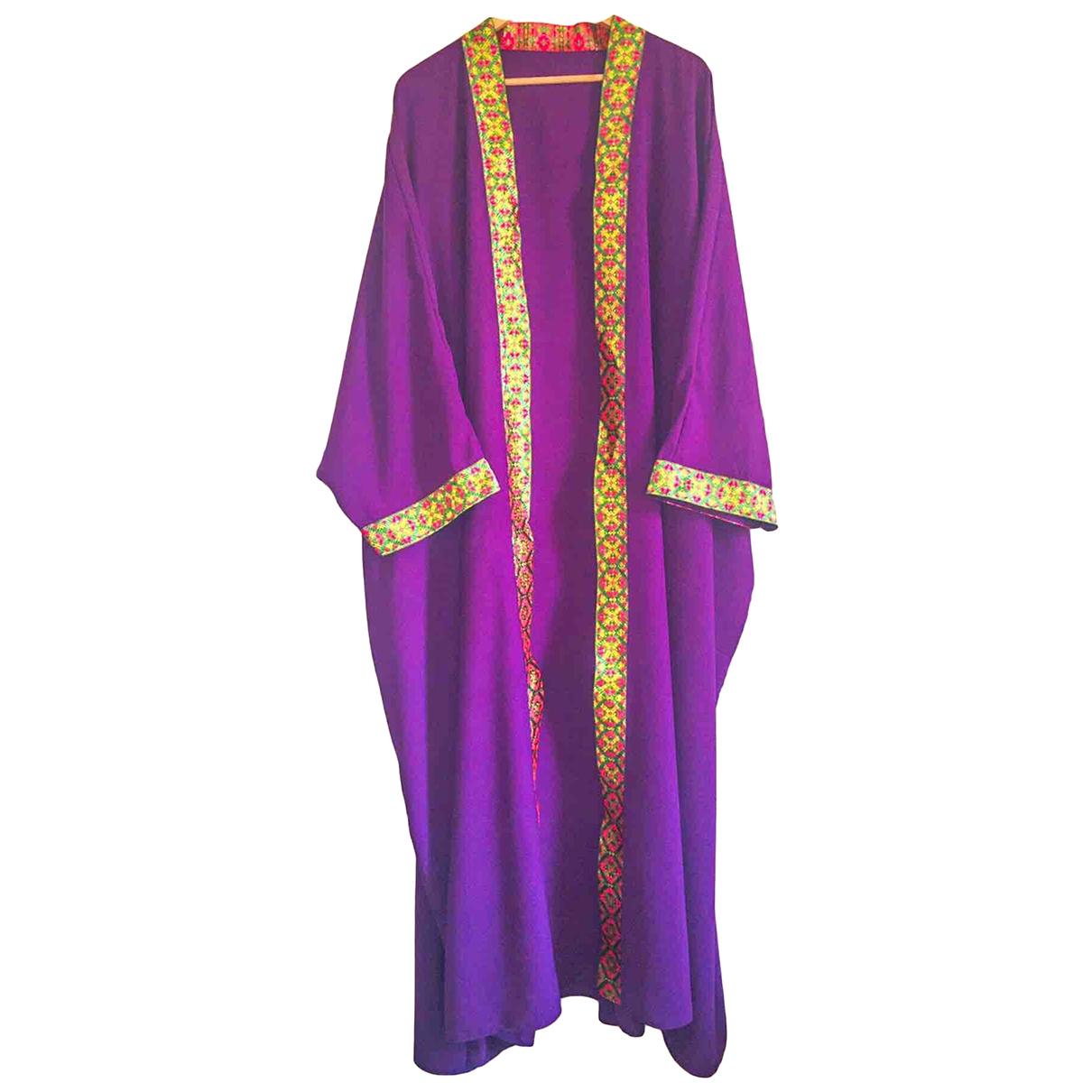 - Robe Oversize pour femme en soie - violet